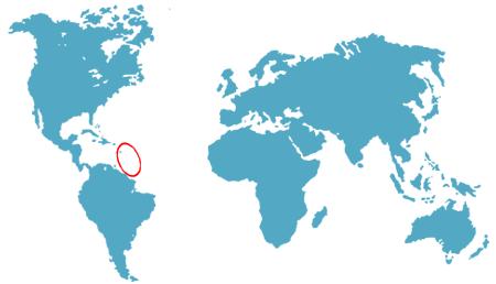 la guadeloupe dans le monde